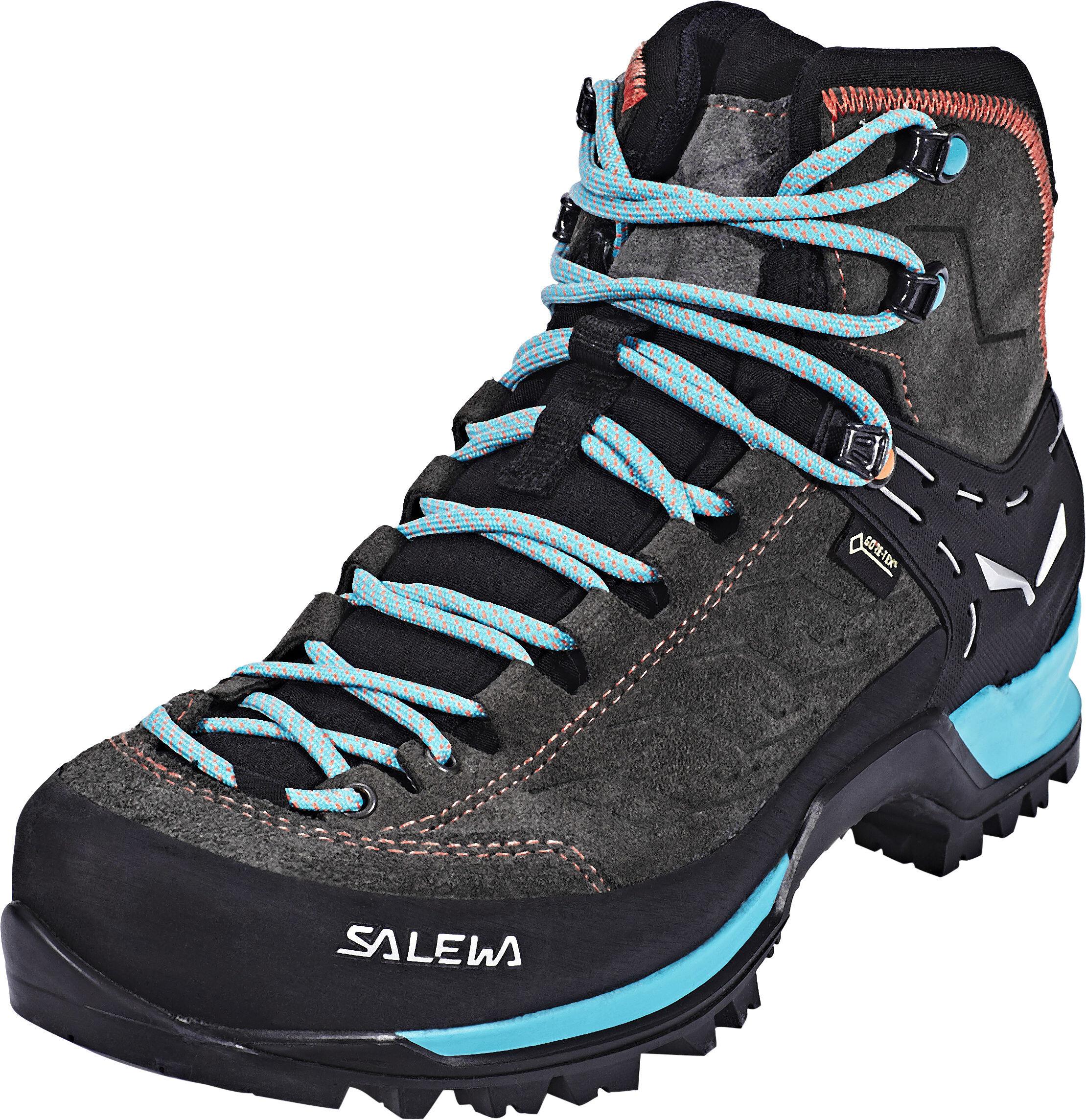 finest selection 60a2a 5419d SALEWA MTN Trainer Mid GTX Shoes Damen magnet/viridian green